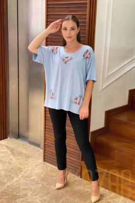 Wholesale Colorful Embroidered Womens Combed